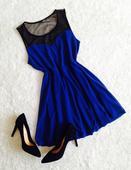 šaty so sieťovinou, L