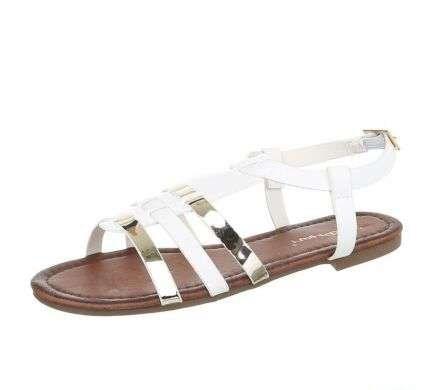 bielo zlaté sandálky - Obrázok č. 1