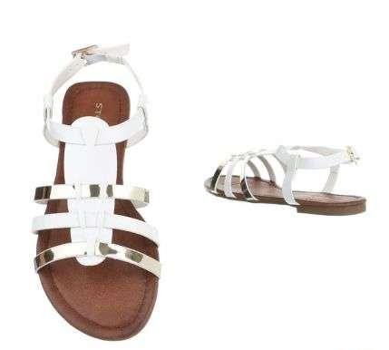 bielo zlaté sandálky - Obrázok č. 2