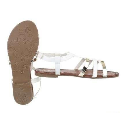 bielo zlaté sandálky - Obrázok č. 3