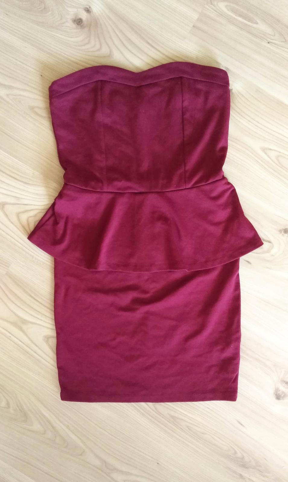 korzetové peplum šaty - Obrázok č. 2