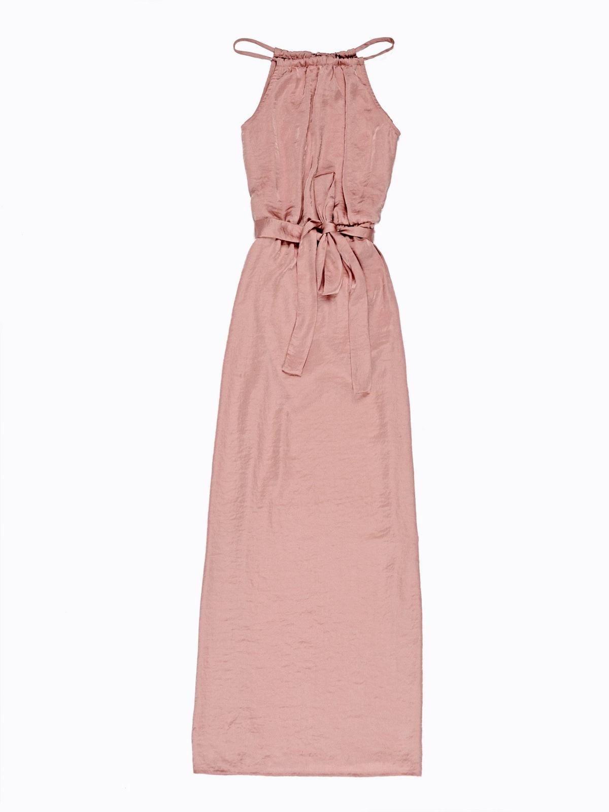 saténové šaty s opaskom - Obrázok č. 2