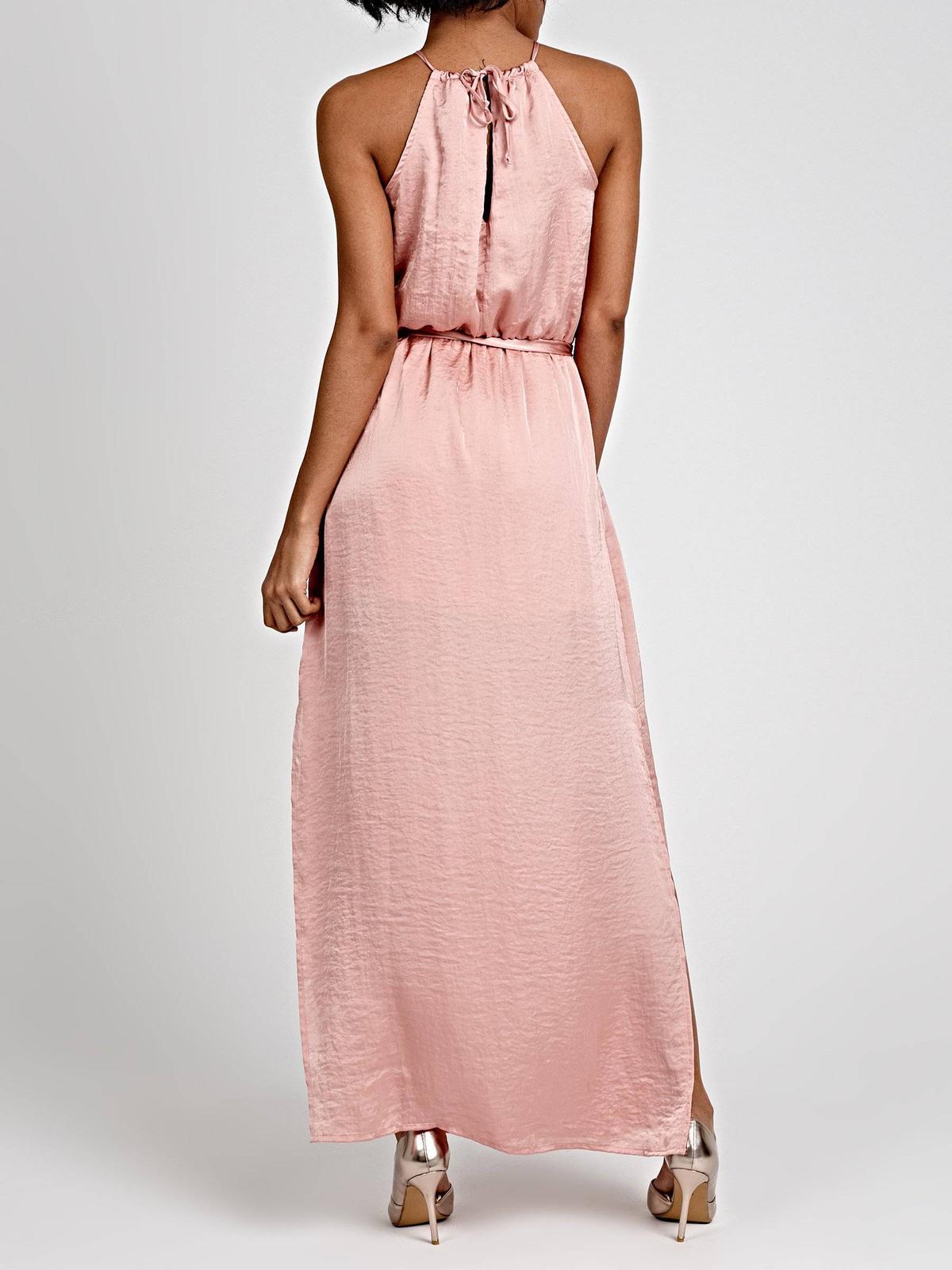 saténové šaty s opaskom - Obrázok č. 3