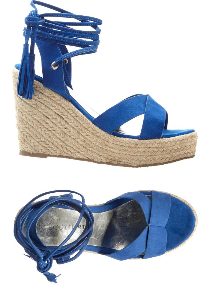 klinové sandále na viazanie - Obrázok č. 2