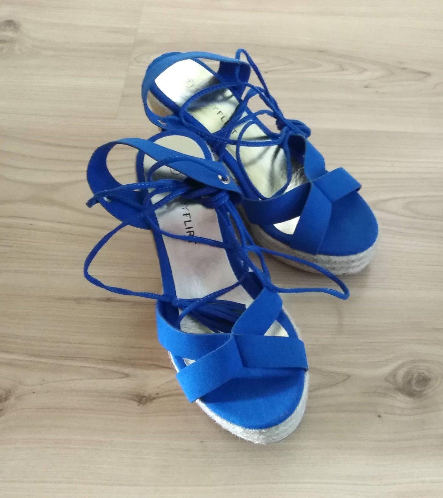 klinové sandále na viazanie - Obrázok č. 4