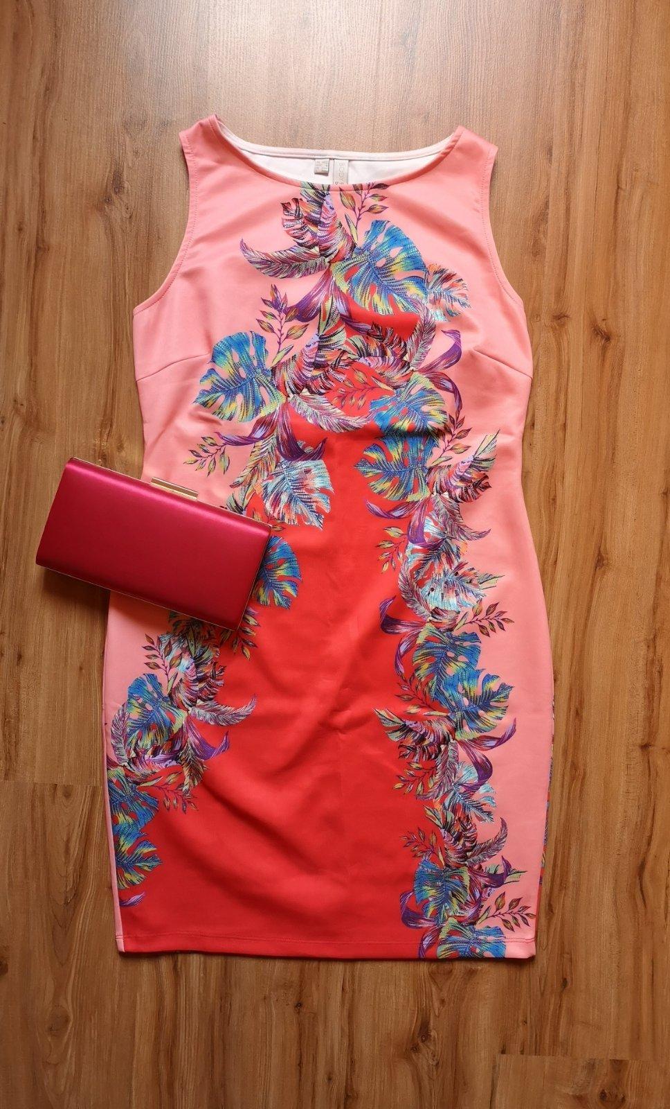 pestrofarebné puzdrové šaty - Obrázok č. 1