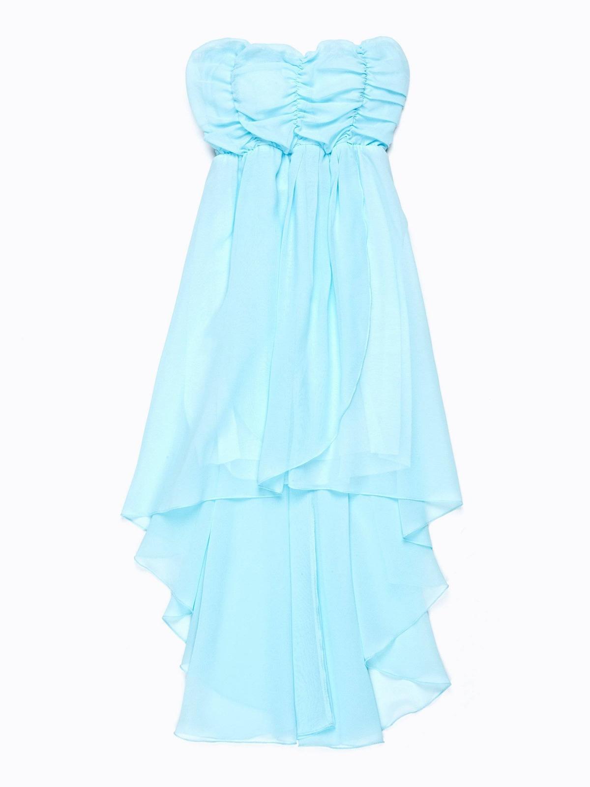 šifónové šaty s asymetrickou sukňou - Obrázok č. 1