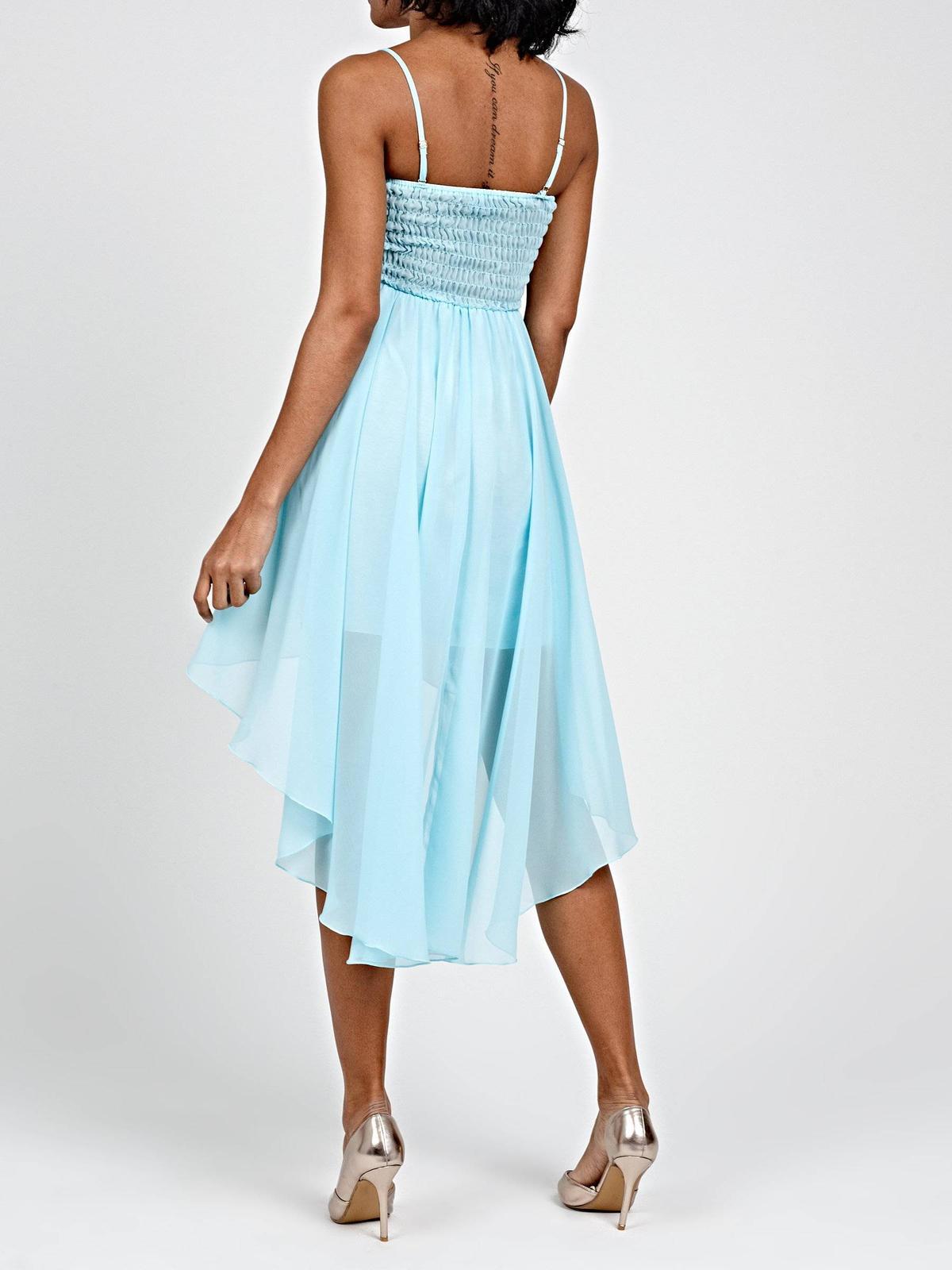 šifónové šaty s asymetrickou sukňou - Obrázok č. 3