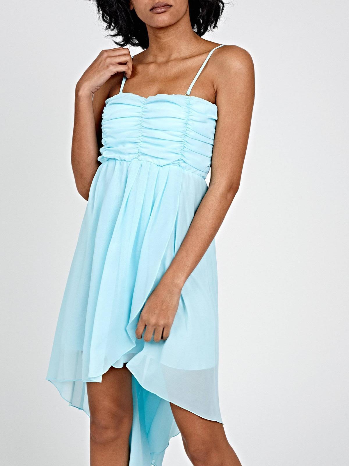 šifónové šaty s asymetrickou sukňou - Obrázok č. 4