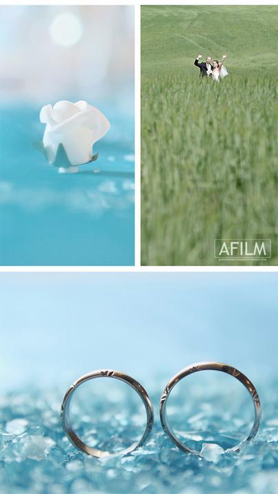 Koláže z videí - I svatební video může mít úmělecké ztvárnění.