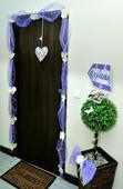 Svadobná výzdoba na dvere - organza + orchidea ,