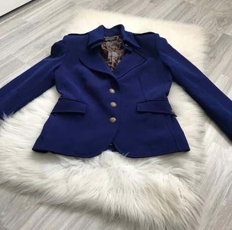 Dámske modré sako značky Rinascimento - Obrázok č. 1