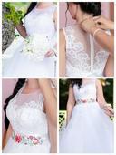 Svadobné šaty s kvetinovým vyšívaním, 37