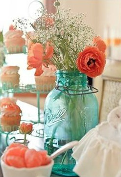 Aqua and coral palette - wedding - Obrázek č. 6