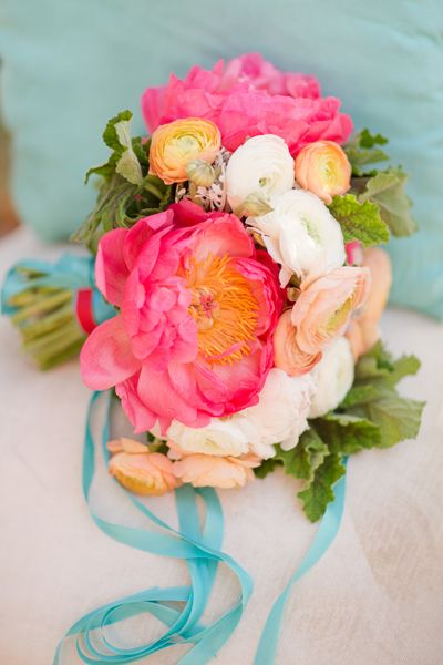 Aqua and coral palette - wedding - Obrázek č. 10