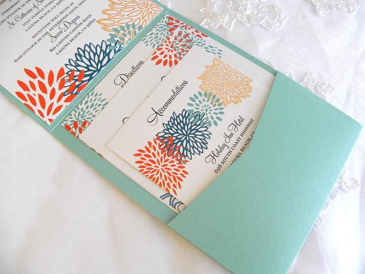 Aqua and coral palette - wedding - Obrázek č. 17