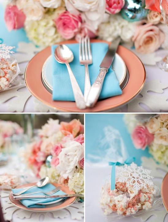 Aqua and coral palette - wedding - Obrázek č. 18