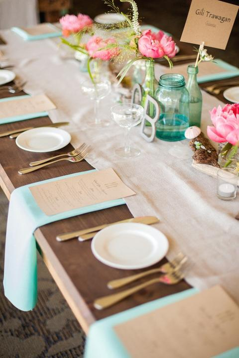 Aqua and coral palette - wedding - Obrázek č. 21