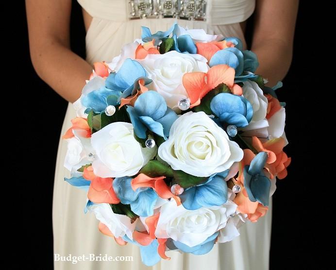 Aqua and coral palette - wedding - Obrázek č. 24