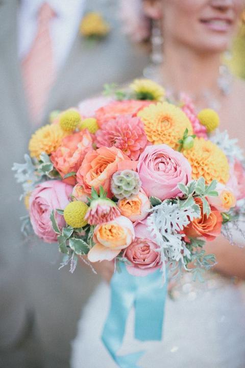 Aqua and coral palette - wedding - Obrázek č. 32