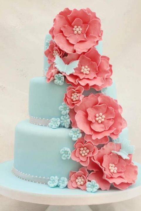 Aqua and coral palette - wedding - Obrázek č. 31