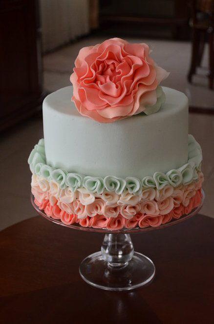 Aqua and coral palette - wedding - Obrázek č. 26