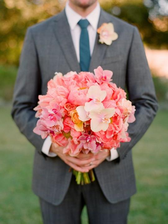 Aqua and coral palette - wedding - Obrázek č. 42