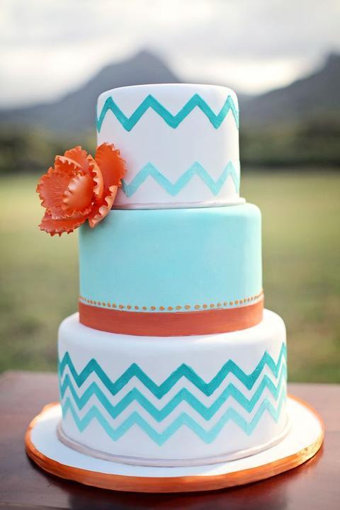 Aqua and coral palette - wedding - Obrázek č. 50
