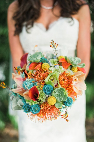 Aqua and coral palette - wedding - Obrázek č. 44