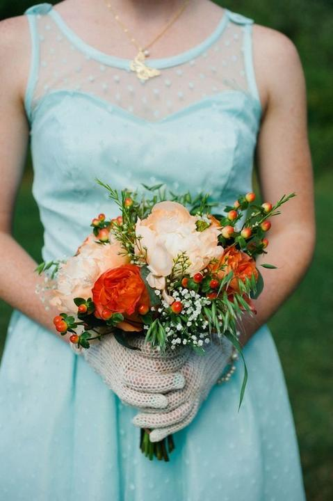 Aqua and coral palette - wedding - Obrázek č. 48
