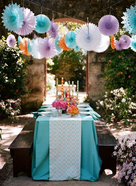 Aqua and coral palette - wedding - Obrázek č. 52