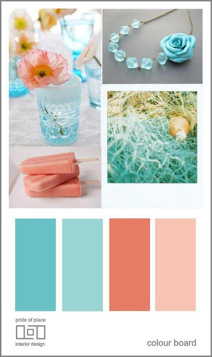 Aqua and coral palette - wedding - Obrázek č. 53