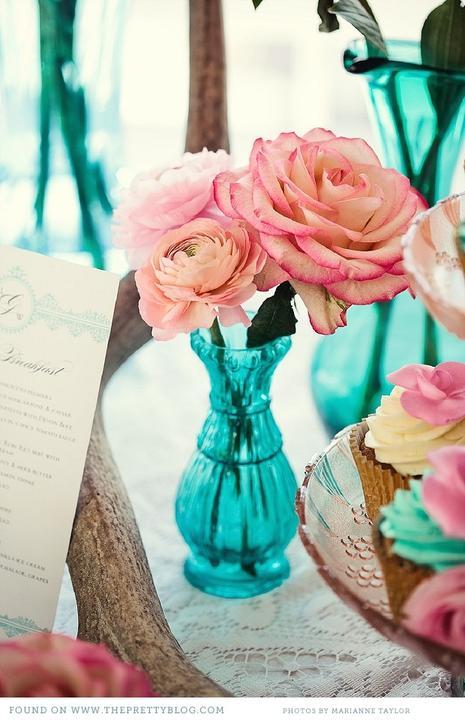 Aqua and coral palette - wedding - Obrázek č. 57