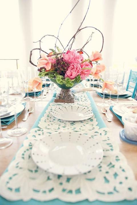 Aqua and coral palette - wedding - Obrázek č. 64