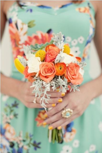 Aqua and coral palette - wedding - Obrázek č. 67