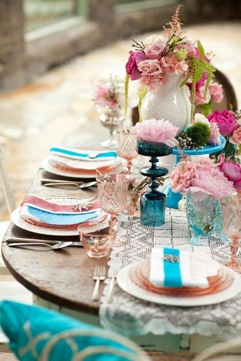Aqua and coral palette - wedding - Obrázek č. 76