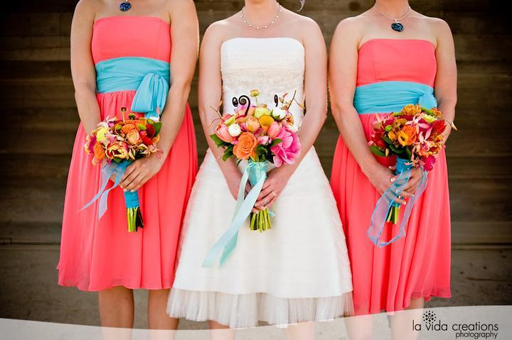 Aqua and coral palette - wedding - Obrázek č. 85