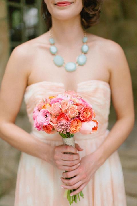 Aqua and coral palette - wedding - Obrázek č. 88