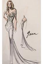 Na druhej svadbe Jenn museli všetci odovzdať telefóny a aj preto nie je z nej jediný publikovaný záber. Mark Zunino však potvrdil, že takéto šaty navrhol pre nevestu. Od Brada dostali ako svadobný dar vázu plnú slnečníc.