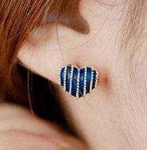 Náušnice modrá srdíčka - Obrázek č. 1