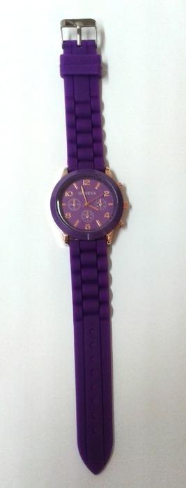 Fialové hodinky silikonové - Obrázek č. 1