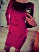 Nenošené sametové červené šaty Shein, XS, 36