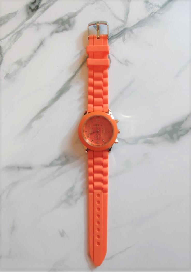 Oranžové hodinky silikonové - Obrázek č. 1