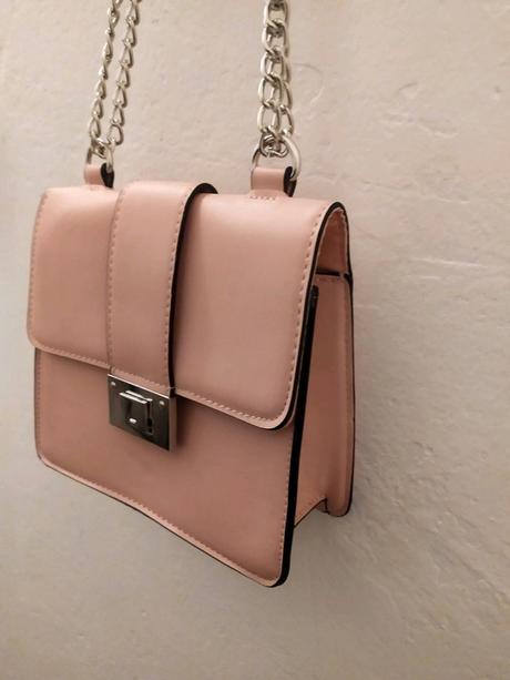 Růžová kabelka se stříbrným řetízkem Erika fashion - Obrázek č. 1