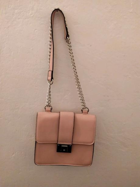 Růžová kabelka se stříbrným řetízkem Erika fashion - Obrázek č. 2