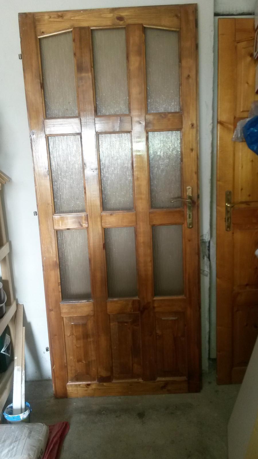 Dvere masív presklené - Obrázok č. 1