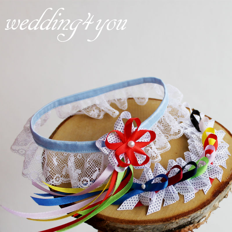"Podvazek ""The Retro Hippie Wedding"" - Obrázek č. 3"