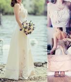 Svatební romantické květinové šaty , 38