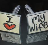 "Manžetové knoflíčky ""I love my wife"","