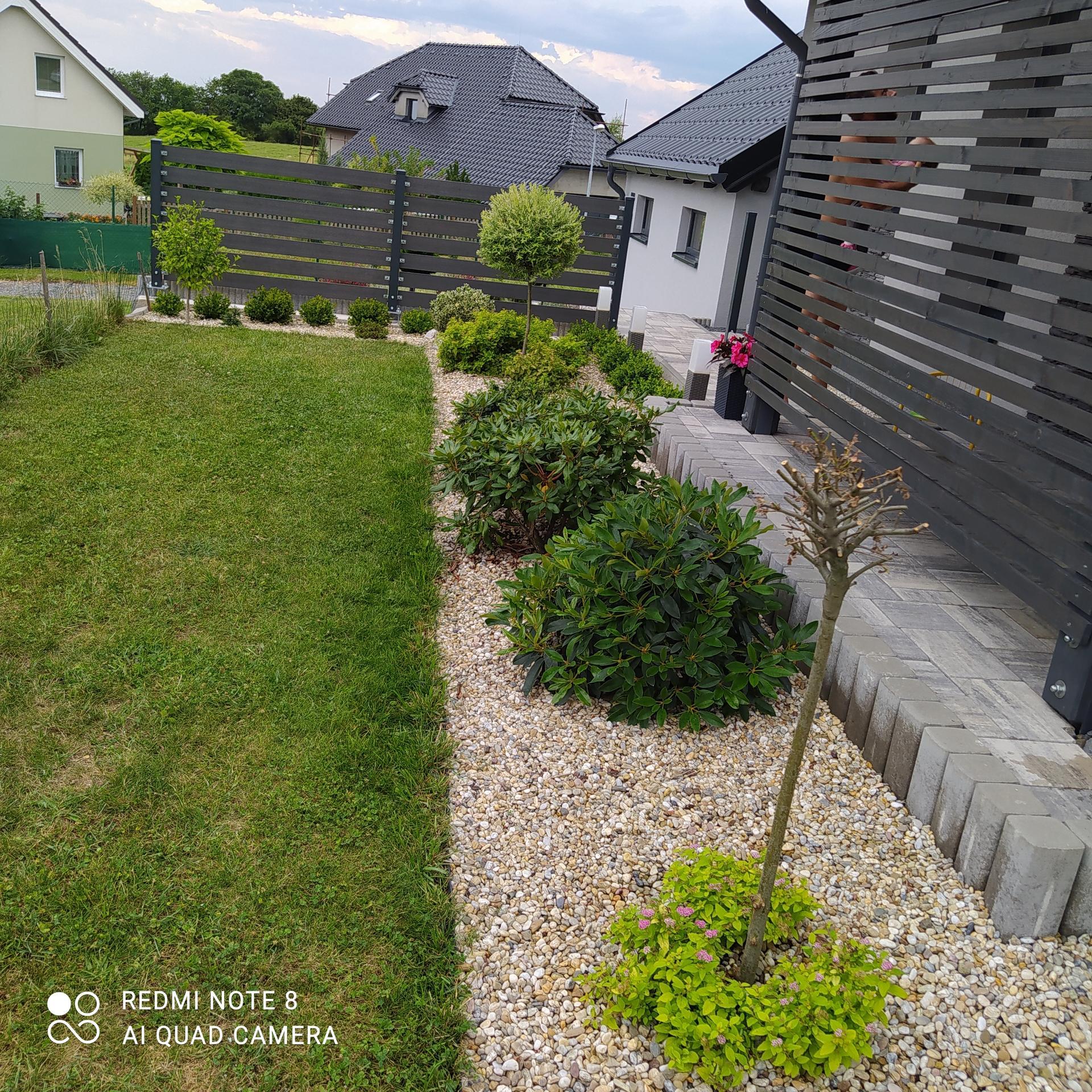 Zahrada a venkovní úpravy pokračujeme 2021 - Trošku jsem přesazovala.